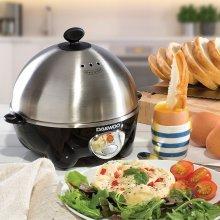 Daewoo Stainless Steel & Black Healthy 7 Egg Cooker Boiler Steamer and Poacher
