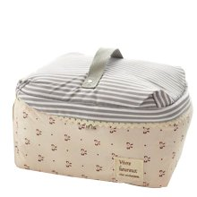 Durable Gilr's Waterproof Large Makeup Bag Cute Travel Accessory Organizer