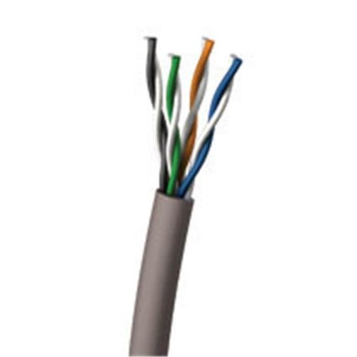 Cables To Go 27352 1000ft Cat5E UTP 350 MHz Solid PVC CMR-Rated Cable - Gray