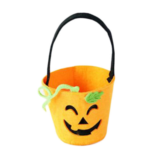 Trick Or Treat Small Halloween Party Decor Children Prop Candy Storage-A1