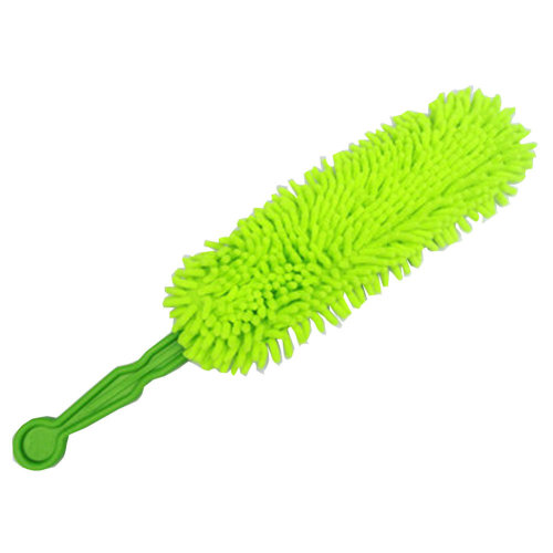 Collapsible Chenille Yarn Car Duster/Dust brush,Fluorescent Green