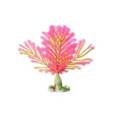 Emulational Plants Aquarium Decor Fish Tank Decoration,Pink