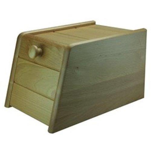 Beech Wood Bread Bin Drop Front