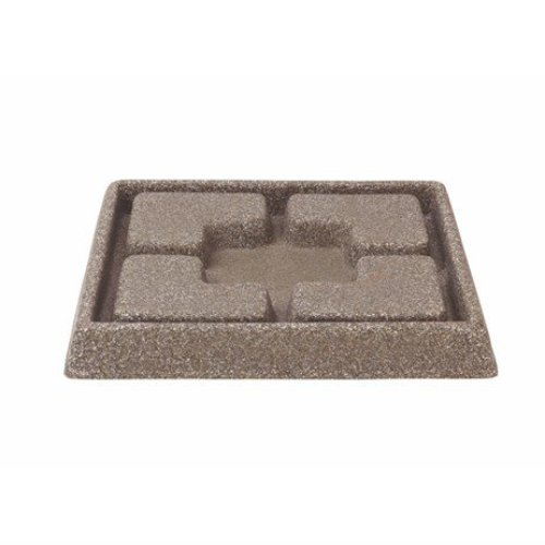 Stewarts Garden Cotswold Decorative Saucer Square - 25cm - Dark Brown (5134047)
