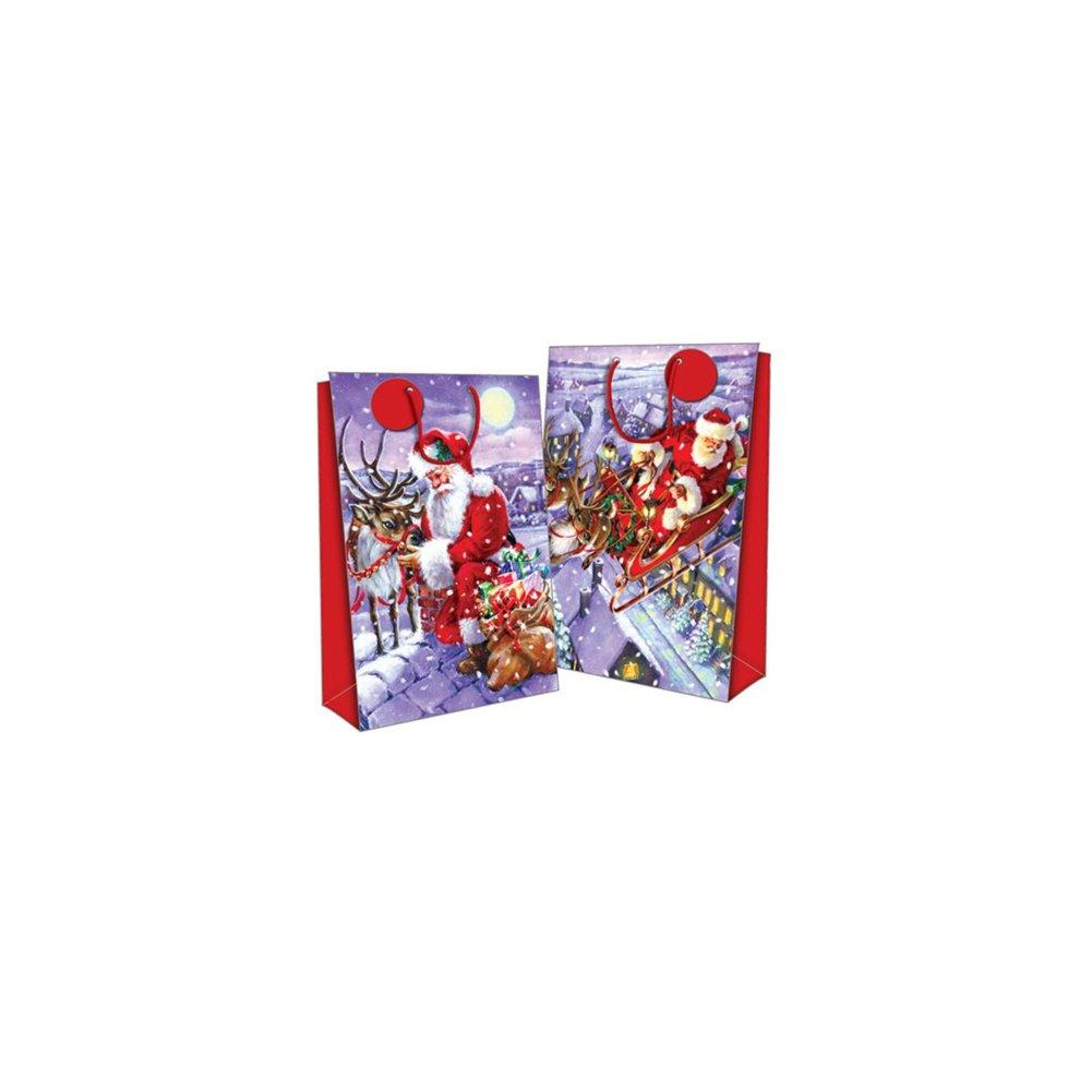 Seasons Greetings Super Jumbo Gift Bags - Traditional Santa - Set 2 ...
