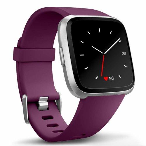 "Zekapu For Fitbit Versa Strap, Replacement Bands TPU Sport Accessory Wristband for Fitbit Versa/Fitbit Versa Special Edition, Small(5.5""- 7.1"") Fushia"