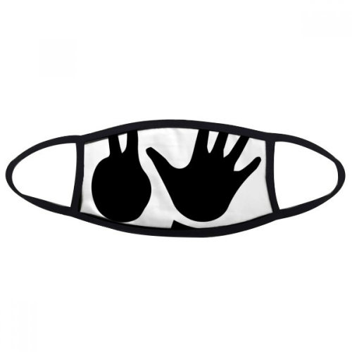 Two Five Gesture Silhouette Pattern Mouth Face Anti-dust Mask Anti Cold Warm Washable Cotton Gift