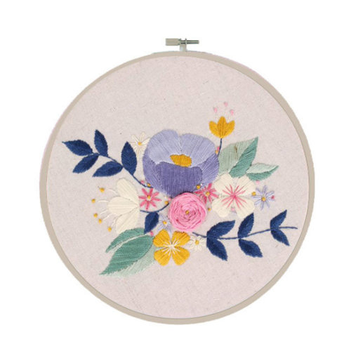 Embroidery Kit Hand Embroidery DIY Flower Hoop Art Kit