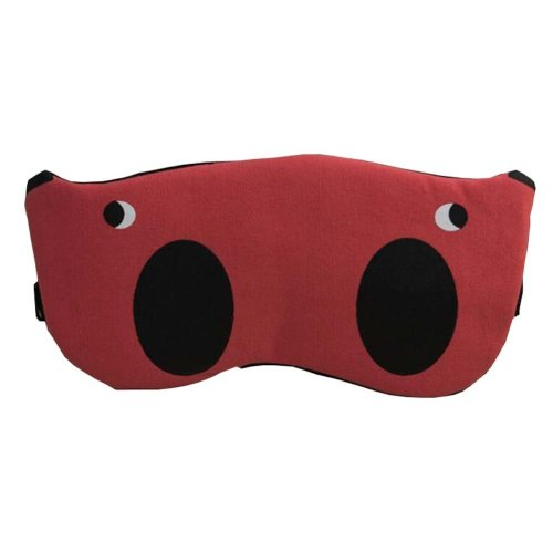 Red Cartoon Eye Mask for Sleep or Travel