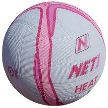Size 5 White & Pink Net1 Heat Netball -  net1 heat netball