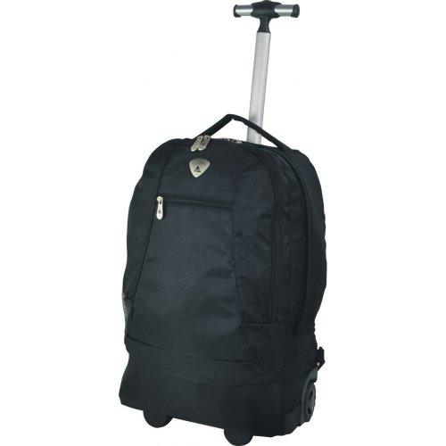 Aerolite 21 Inch Cabin Trolley Backpack Luggage Bag Black