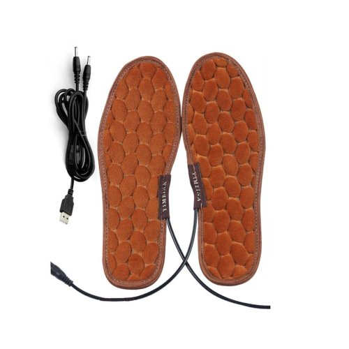One Pair Heating Shoes Pads USB Electric Heated Pads usb Foot Warmer for Winter 24cm #1