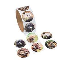 Fun Express Zoo Animal Stickers (1 Roll)