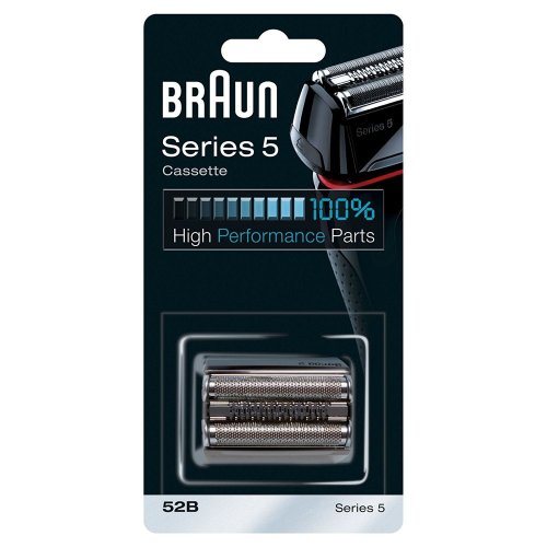 Braun 52B Series 5 Electric Shaver Replacement Foil and Cassette Cartridge - Black