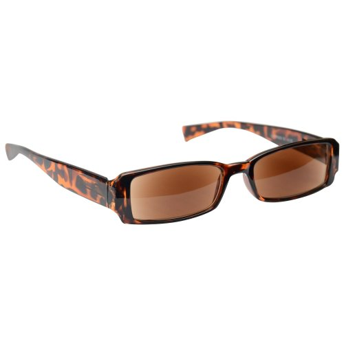 Sun Readers Reading Glasses Sunglasses Womens Mens Unisex UV400 Protection Brown Tortoiseshell UV Reader UVSR003 Inc Case Strength +1.50