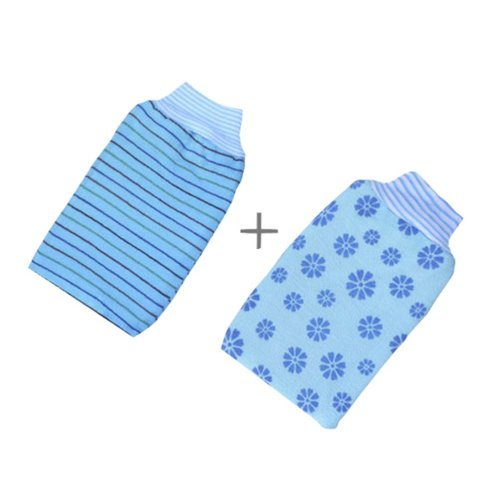 Rubbing Towel Strong Rubbing Mud Adult Thickened Double Rubbing Gloves?Blue?