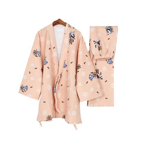 Women's Pajamas Suit Cotton Autumn & Winter Thicken Kimono Loose Pajamas