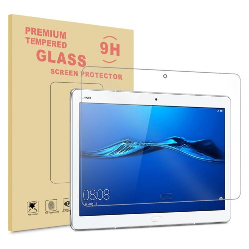 Infiland Huawei MediaPad M3 10 Lite 10 Screen Protector, Premium HD clear Tempered Glass Screen Protector for Huawei MediaPad M3 10 Lite 10-Inch...