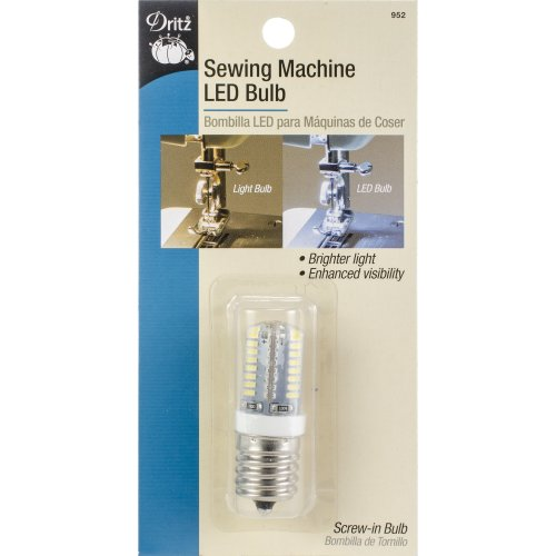 Dritz Sewing Machine LED Screw-In Light Bulb-Clear W/Screw-In Base
