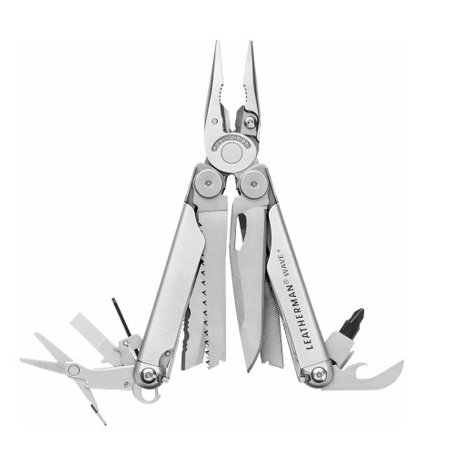Leatherman Wave Plus multitool 17 functions - full size genuine leather man tool