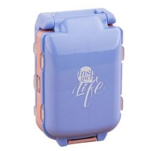 Smart 7 Day Pill Reminder Medicine Storage Container Pill Case, Blue