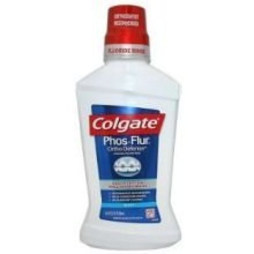 Colgate Phos Flur Cool Mint Anti Cavity Fluoride Rinse 16 Fluid Ounce  6 per case
