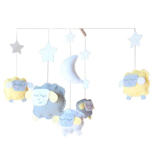 DIY Baby Crib Mobiles Hanging Mobile Toy, Need Sewing, Sheep
