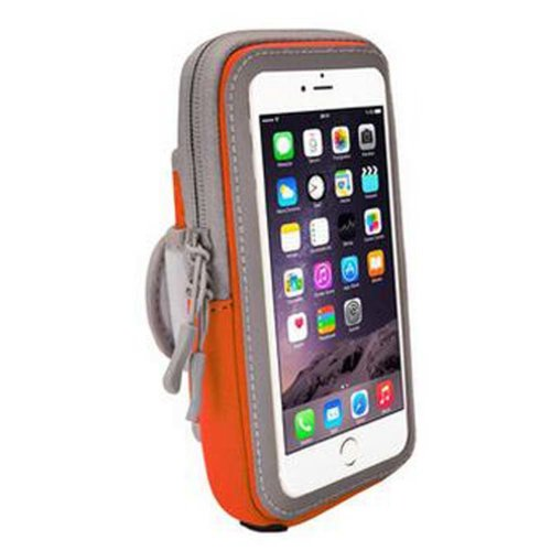 [Orange]Wrist Pack Cell Phone Armband Outdoor Sports Armband Fashion Arm Package