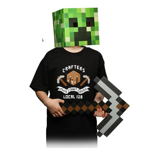 Minecraft Kids Union T Shirt, Black Size Extra Small