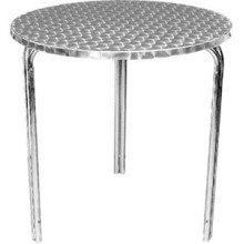 Boley Round Stainless Steel Stackable Outdoor Bistro Table