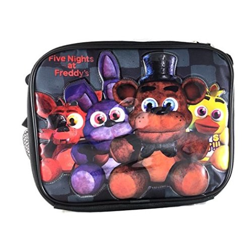 Lunch Bag - Five Nights At Freddys - Bonnie Chica Foxie Back Checker New 151212