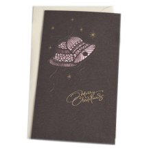 Christmas Cards Greeting Cards Christmas Gift Xmas Cards (4 Cards and Envelopes), Black # 24
