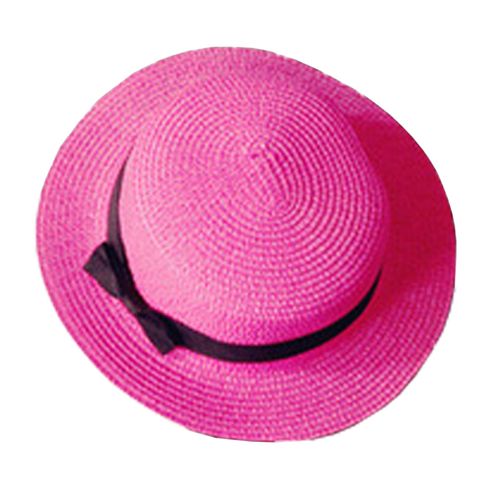 18bae9de5fc44 Elegant Stylish Fashion Lady s Girl s Sun Beach Hat Straw Cap rose red on  OnBuy