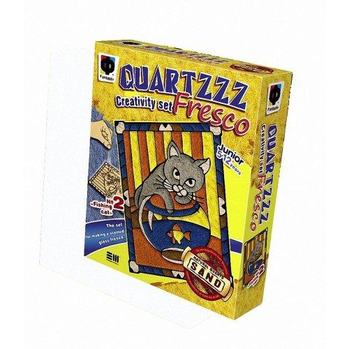 Elf408002 - Fantazer - Quartz Fresco Sand Picture - Fishing Cat