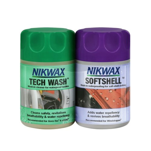 Nikwax Tech Wash/SoftShell Clean & Proof Twin Pack (150ml)