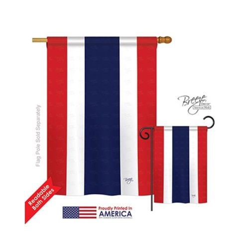 Breeze Decor 08206 Thailand 2-Sided Vertical Impression House Flag - 28 x 40 in.