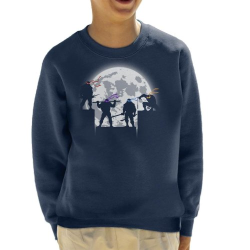 Teenage Mutant Ninja Turtles Night Shadows Silhouette Kid's Sweatshirt