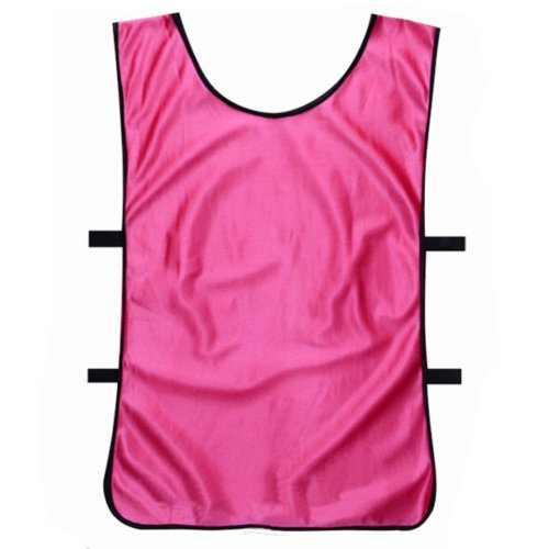 Set of 6 Basketball/Soccer Training/Scrimmage Vests Basketball Jersey, HOT PINK