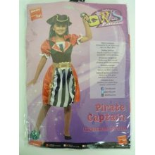 Small Girl's Pirate Captain Costume -  pirate fancy dress girls costume captain outfit kids book childs