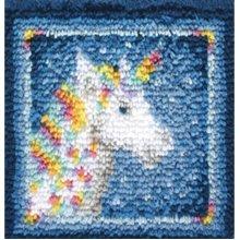 """Caron Wonderart Latch Hook Kit 12""""X12""""-Unicorn"""