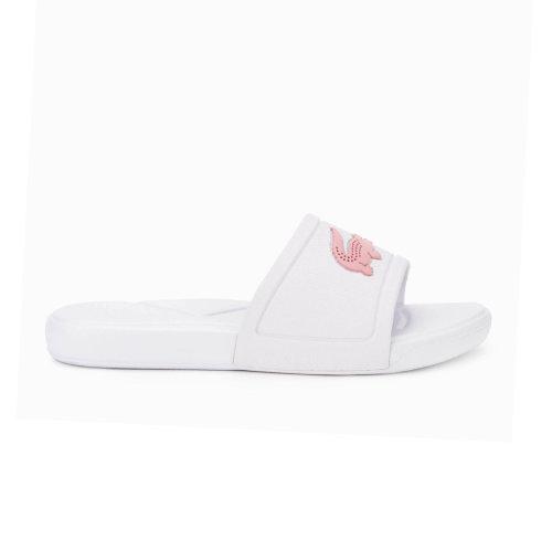 Lacoste L.30 Youth Kids Girls Summer Flip Flop Slide White/Pink