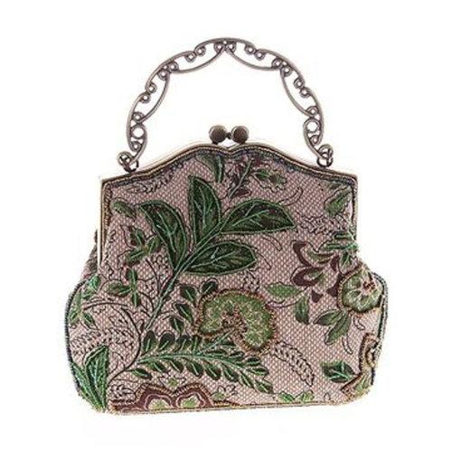 Women's Vintage Style Clutch Evening Bag Elegant  Luxurious Handbag Purse-Banquet-Cocktail Party, B