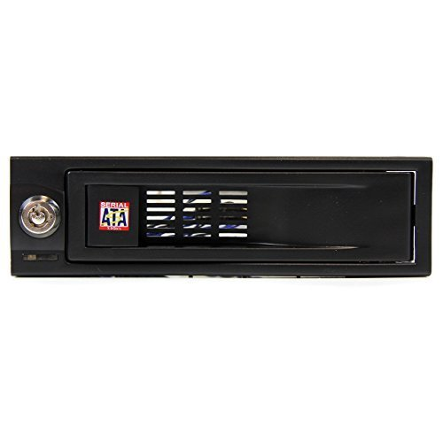 StarTech com 5 25in Trayless Hot Swap Mobile Rack for 3 5in Hard Drive Internal SATA Backplane Enclosure
