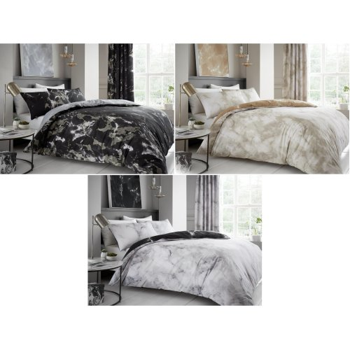 Marble Print Cotton Blend Bedding Set