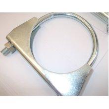 universal exhaust u clamp bolt heavy duty TV aerial pipe hose 36mm x 5, Pk x 5