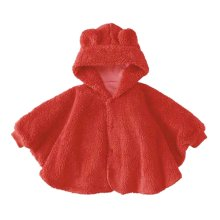 Baby Clothing Baby Cloak Shawl Thick Blankets Bear RED Cloak