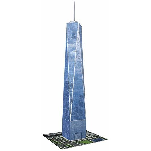Ravensburger One World Trade Center NY 216 Piece 3D Jigsaw Puzzle for Kids and Adults Easy Click Technology Means Pieces Fit Together Perfectly