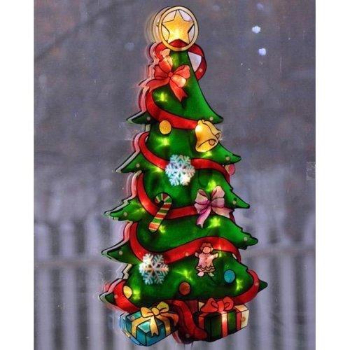 Metallic Light Up Christmas/Xmas Sign Christmas Tree