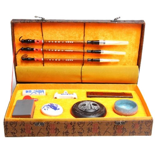 Chinese Calligraphy Writing Writing Brushes,Ink ,Calligraphy Paper and Ink Stone
