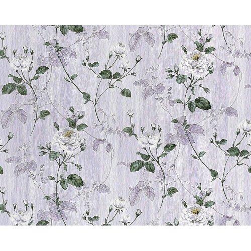 EDEM 975-34 wallpaper non-woven floral roses vintage flower violet | 10.65 sqm